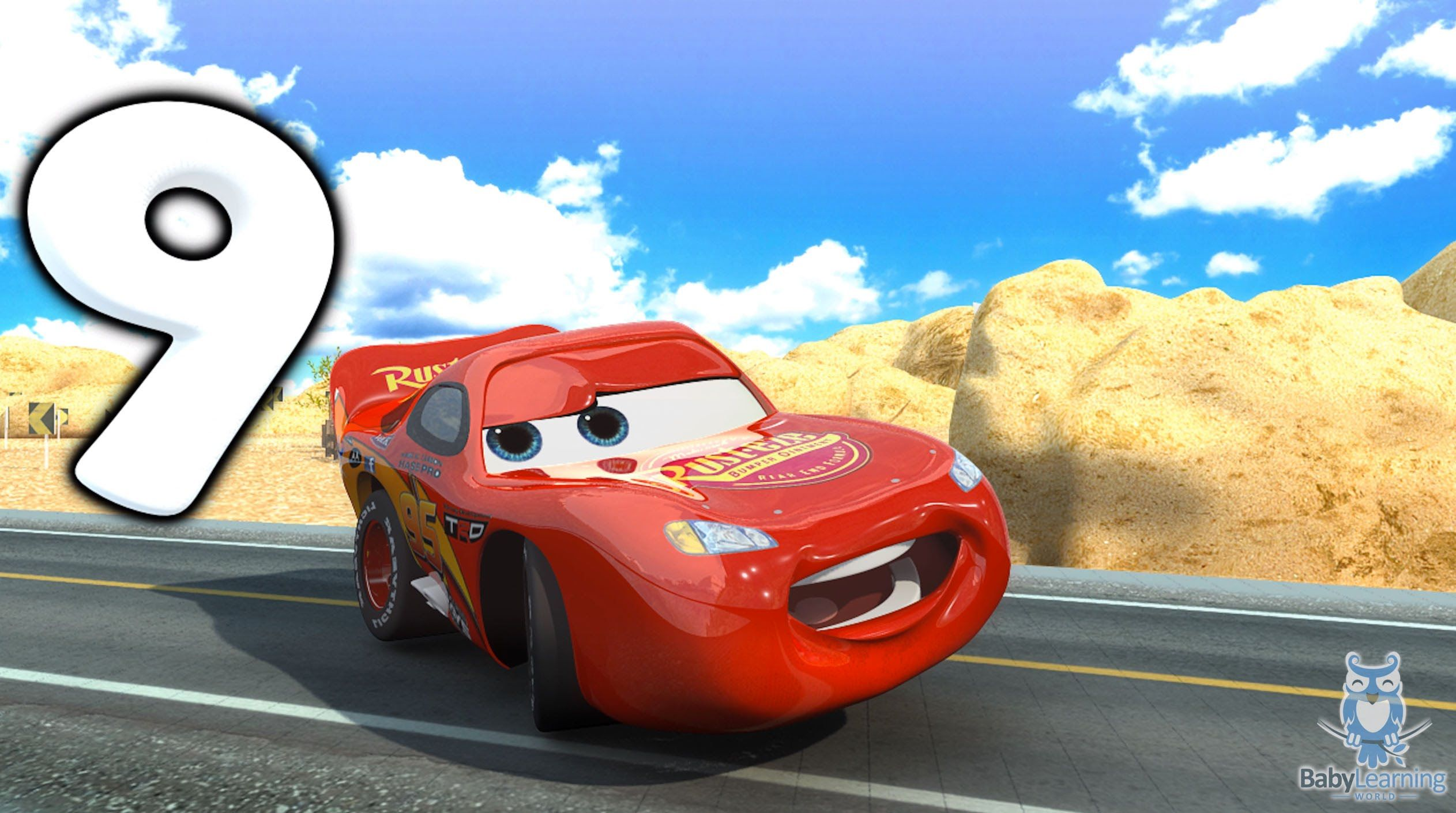 Count Numbers 1 to 20 Song with Lightning McQueen from