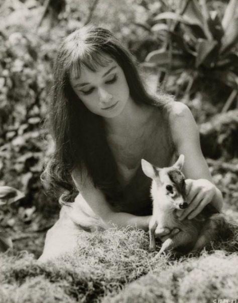 Audrey Hepburn tan natural como de costumbre