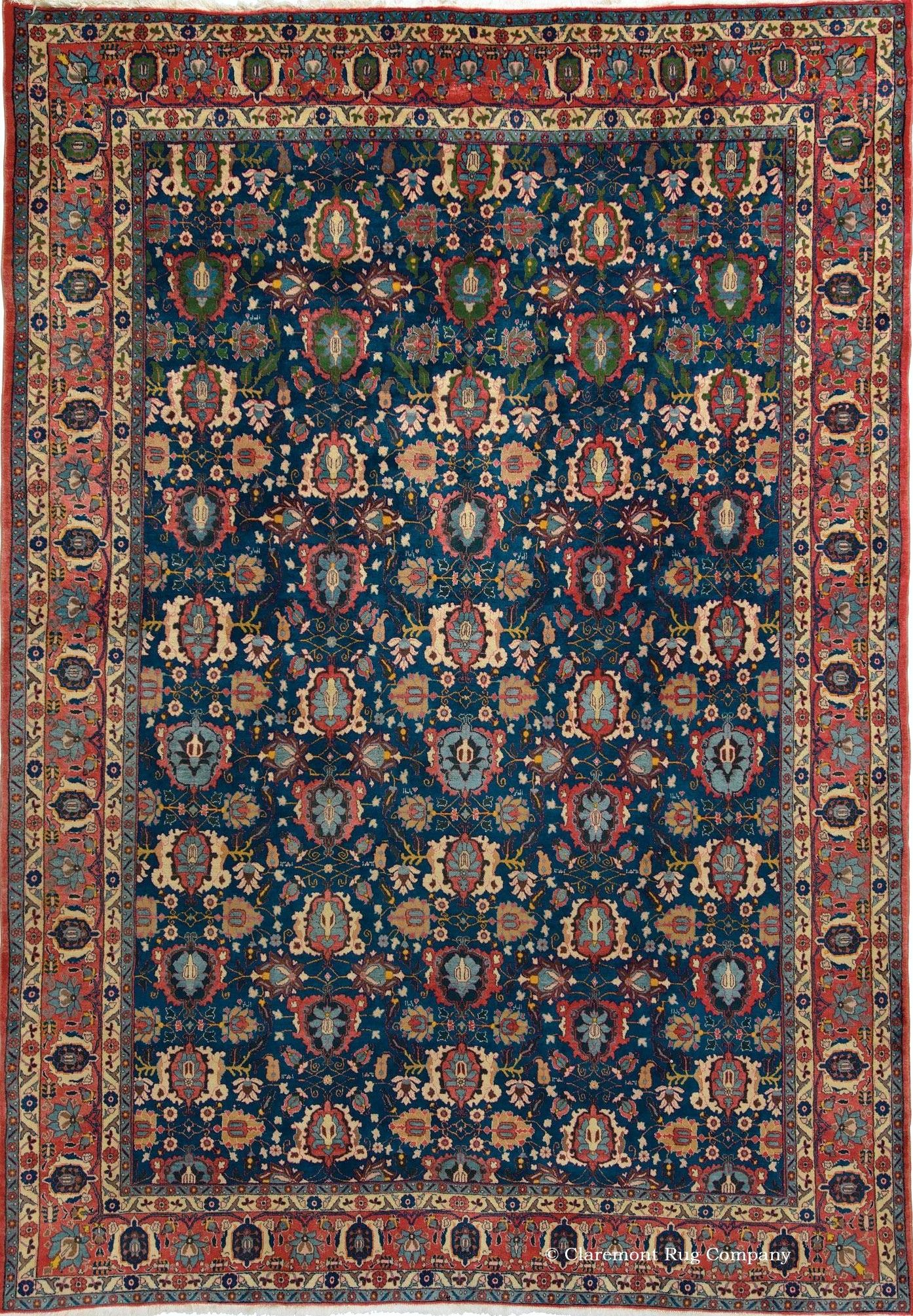 Persian Veramin Rug 7ft 2in X 10ft 4in Circa 1925 Claremont Gallery Carpet Handmade Antique Oriental Rugs Rugs On Carpet