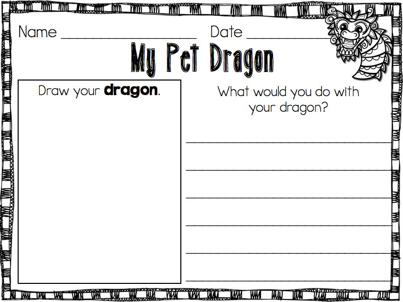 "recording page for the book ""My Pet Dragon"" {blog even explains a craft to go with it}"