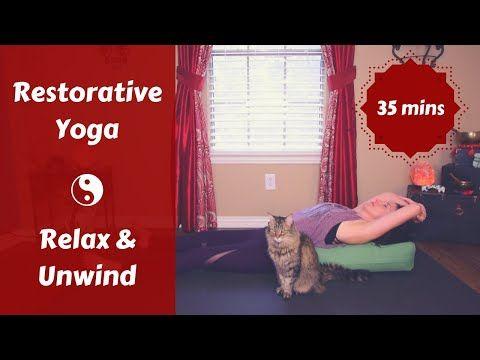 restorative yoga to relax  unwind  evening transition