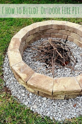 Good {How To Build} Outdoor Fire Pit Via SewWoodsy.com For @Homes. Nice Design