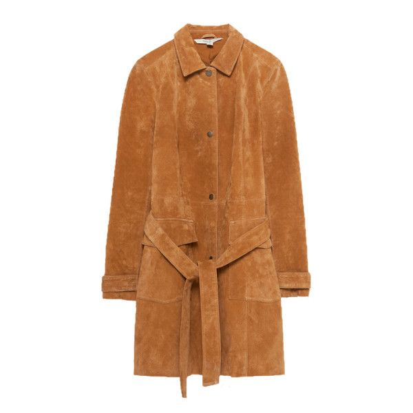 Zara long suede coat