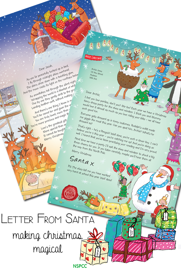 Nspcc personalised letter from santa christmas pinterest santa make christmas even more magical for the kids with a personalised letter from santa with different options and a special babys first christmas poem its spiritdancerdesigns Gallery