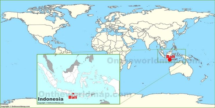 Bali on the world map maps pinterest indonesia bali on the world map gumiabroncs Images