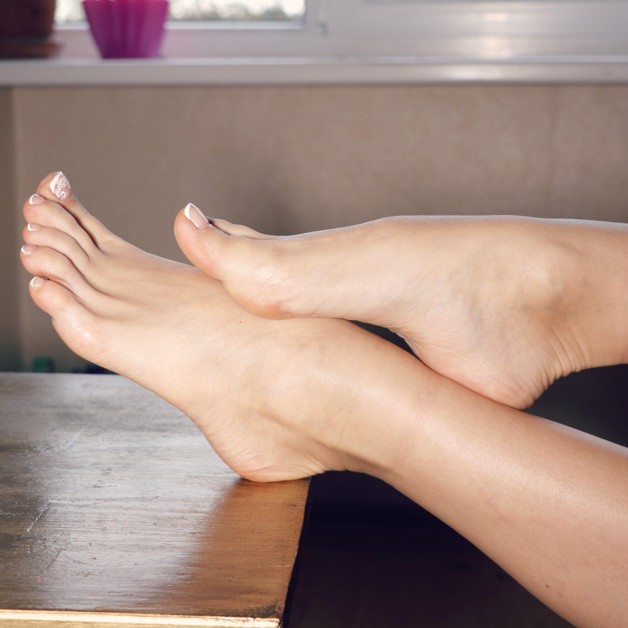 Woman's feet sexy image photo