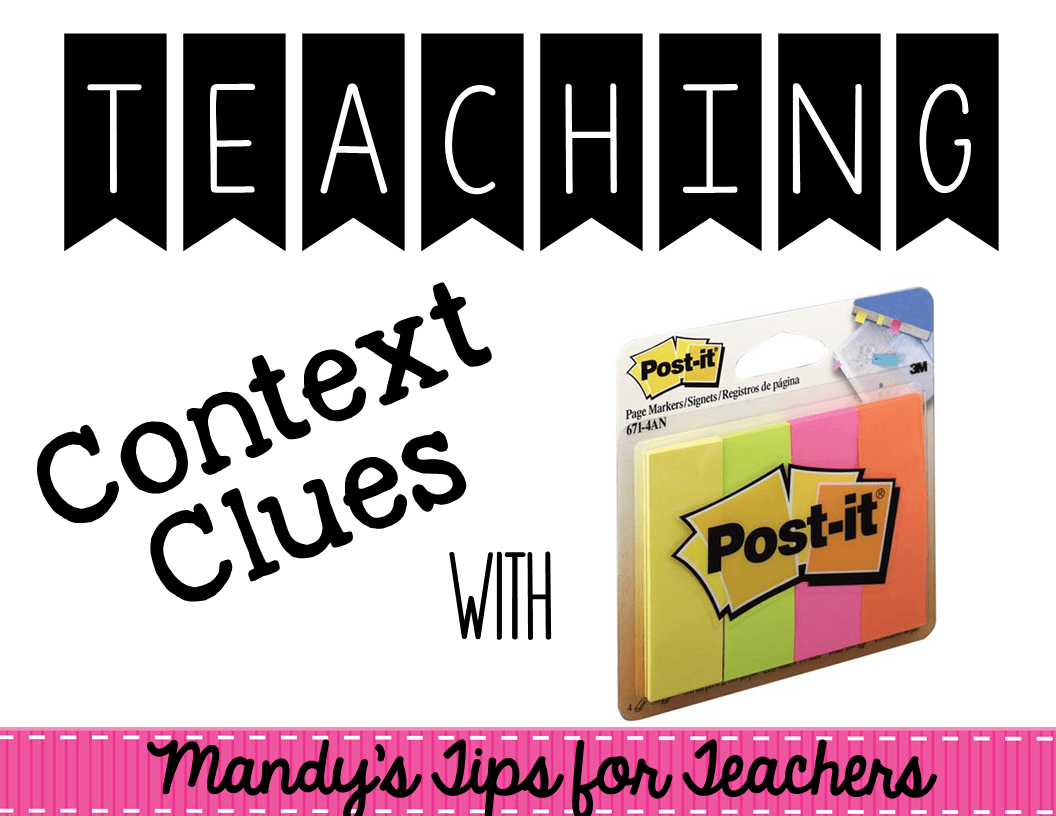 Bright Idea Using Post It Note To Teach Context Clues