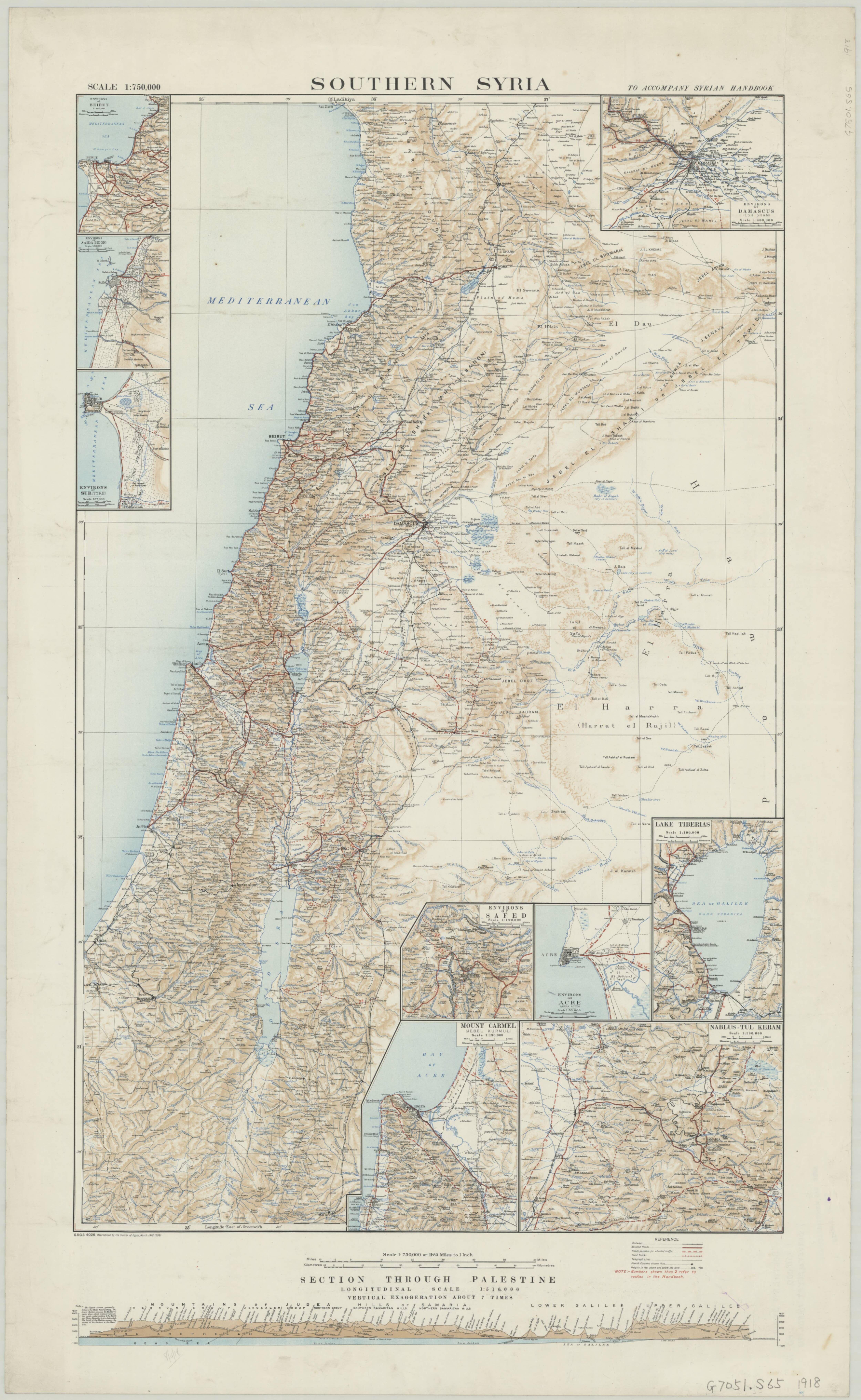 Southern Syria 1918 SyriaSouthernMaps Southern Syria