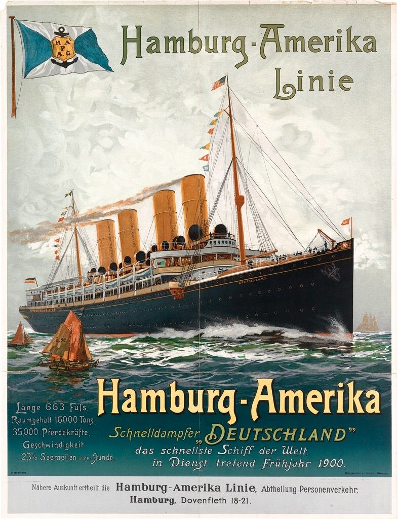 Original advertising for the S.S. Deutschland