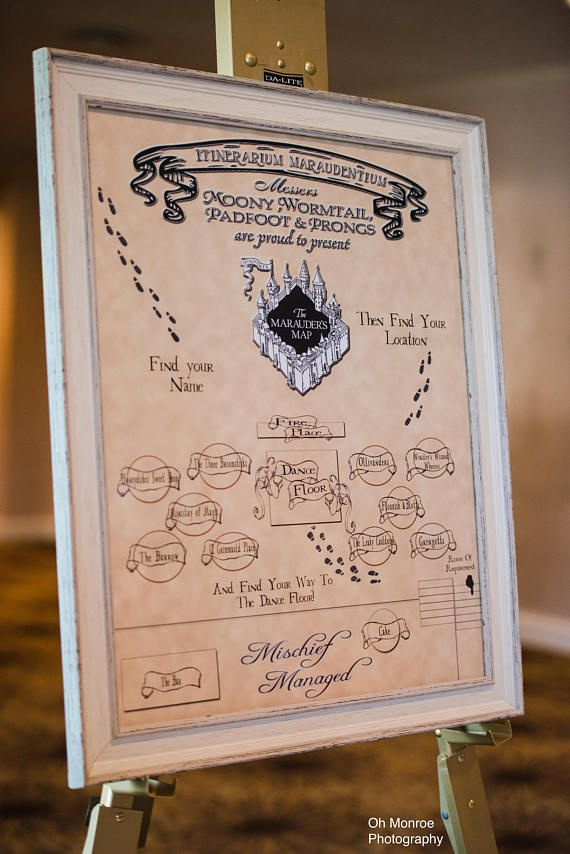 Harry Potter The Marauders Map Wedding Seating Chart Harry Potter