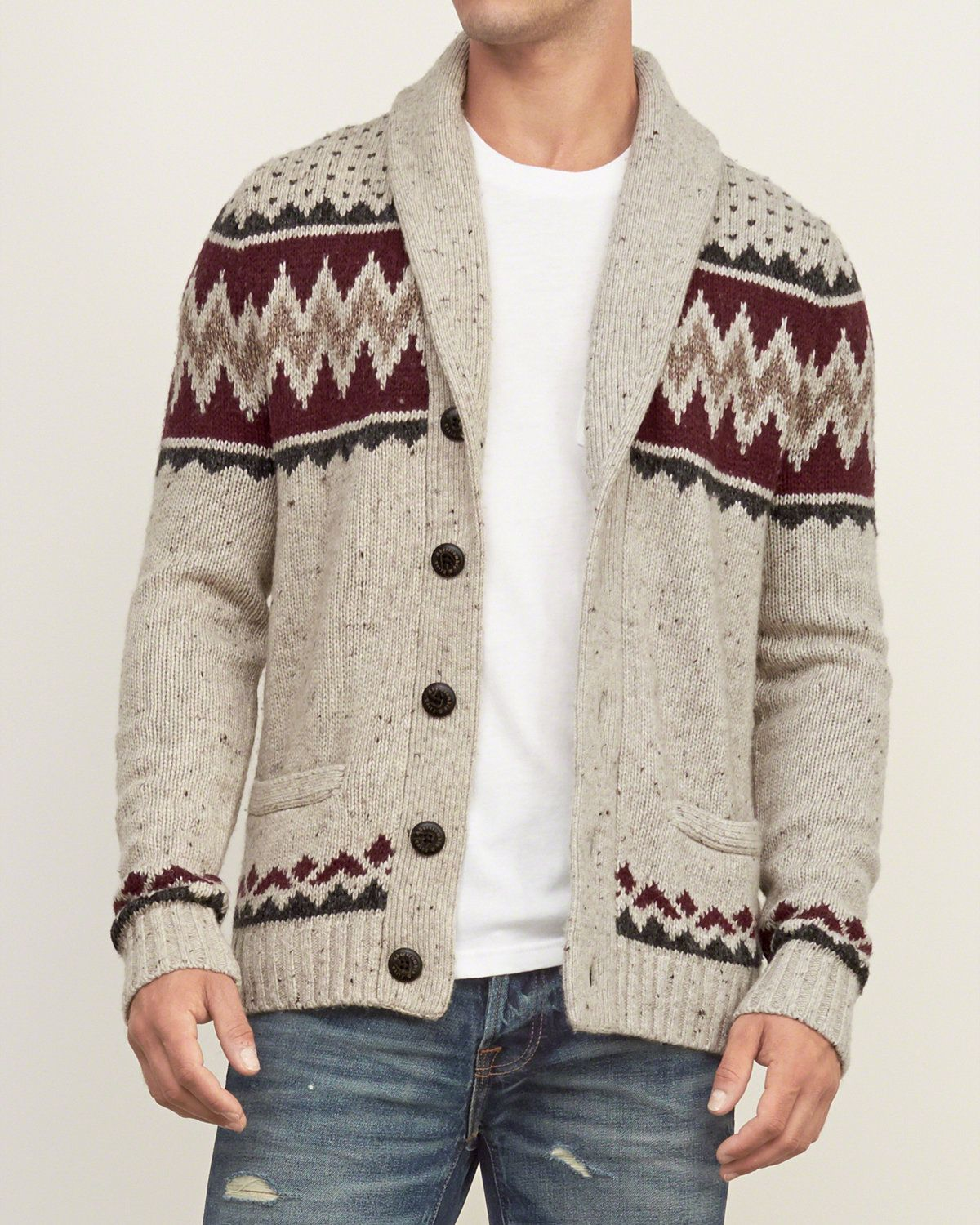 Mens Patterned Shawl Cardigan | Mens Sweaters | Abercrombie.com ...