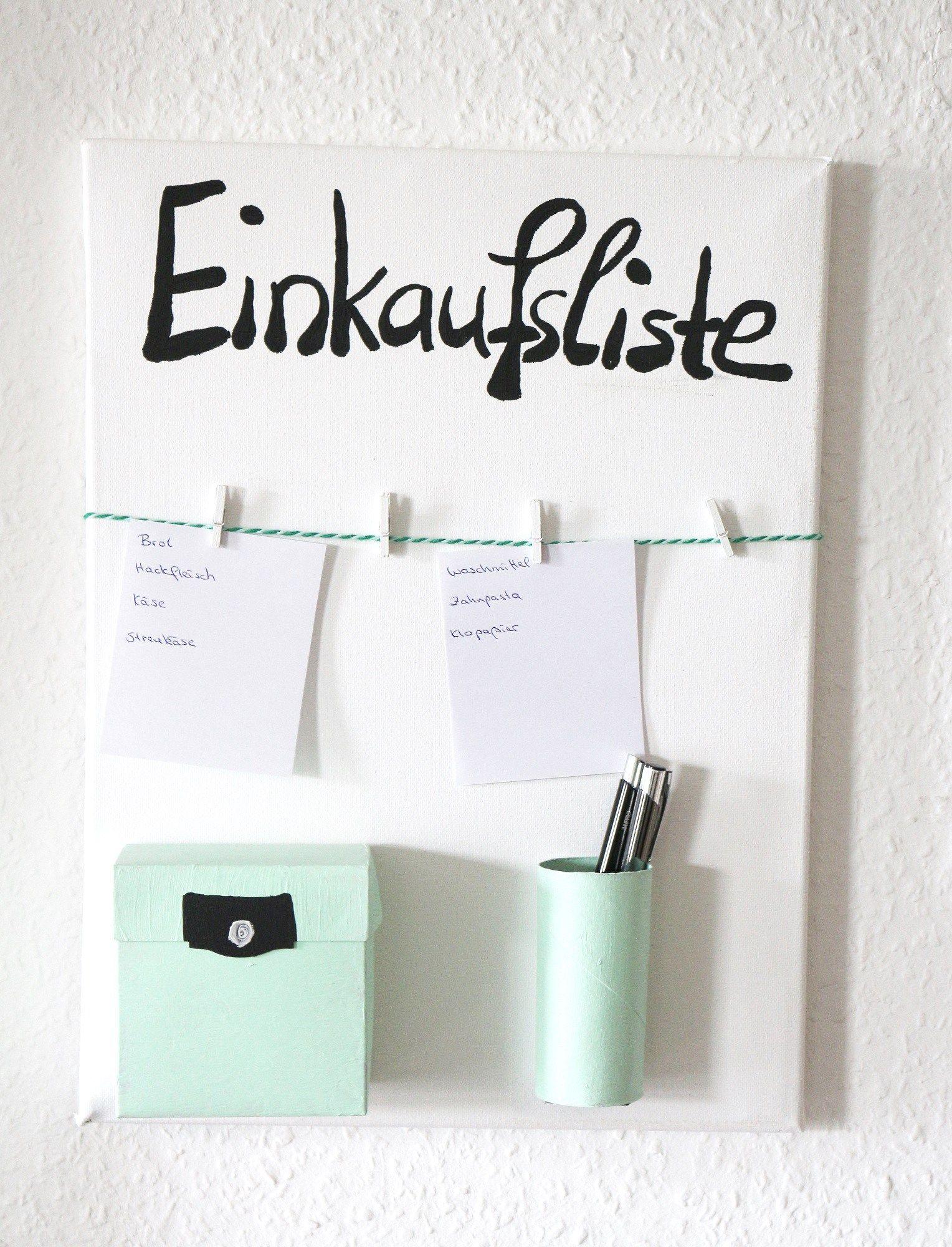diy einkaufslisten organizer selber machen kreativ pinterest. Black Bedroom Furniture Sets. Home Design Ideas