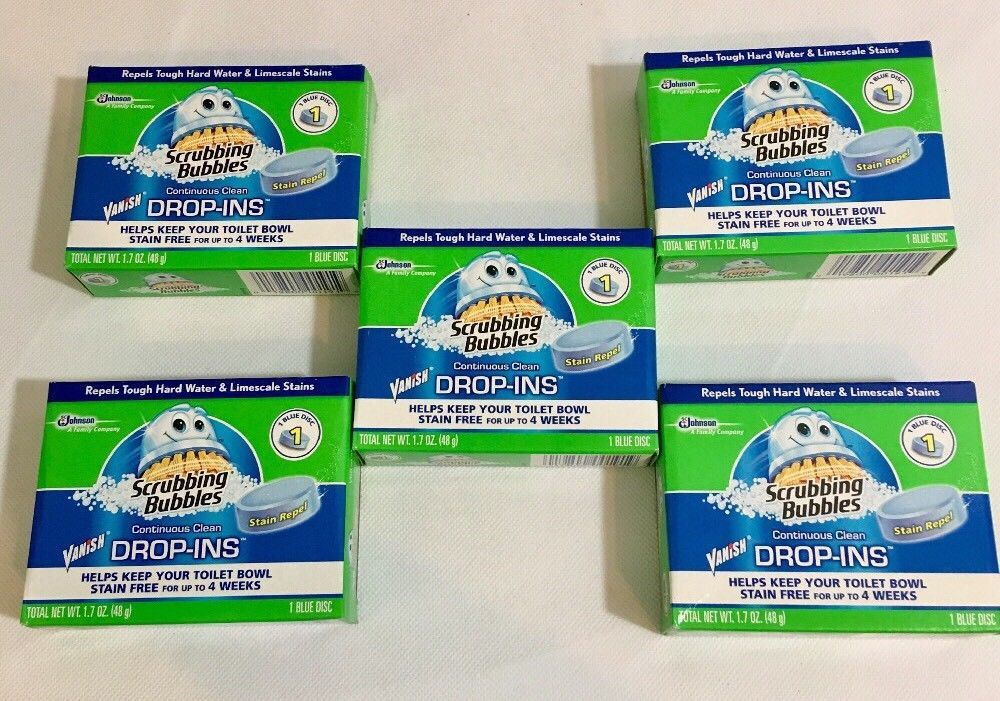 Scrubbing Bubblues Vanish Drop Ins Toilet Cleaning Tablet 1 Ea Pack Of 5 Ebay Cleaning Tablets Toilet Cleaning Borax Cleaning