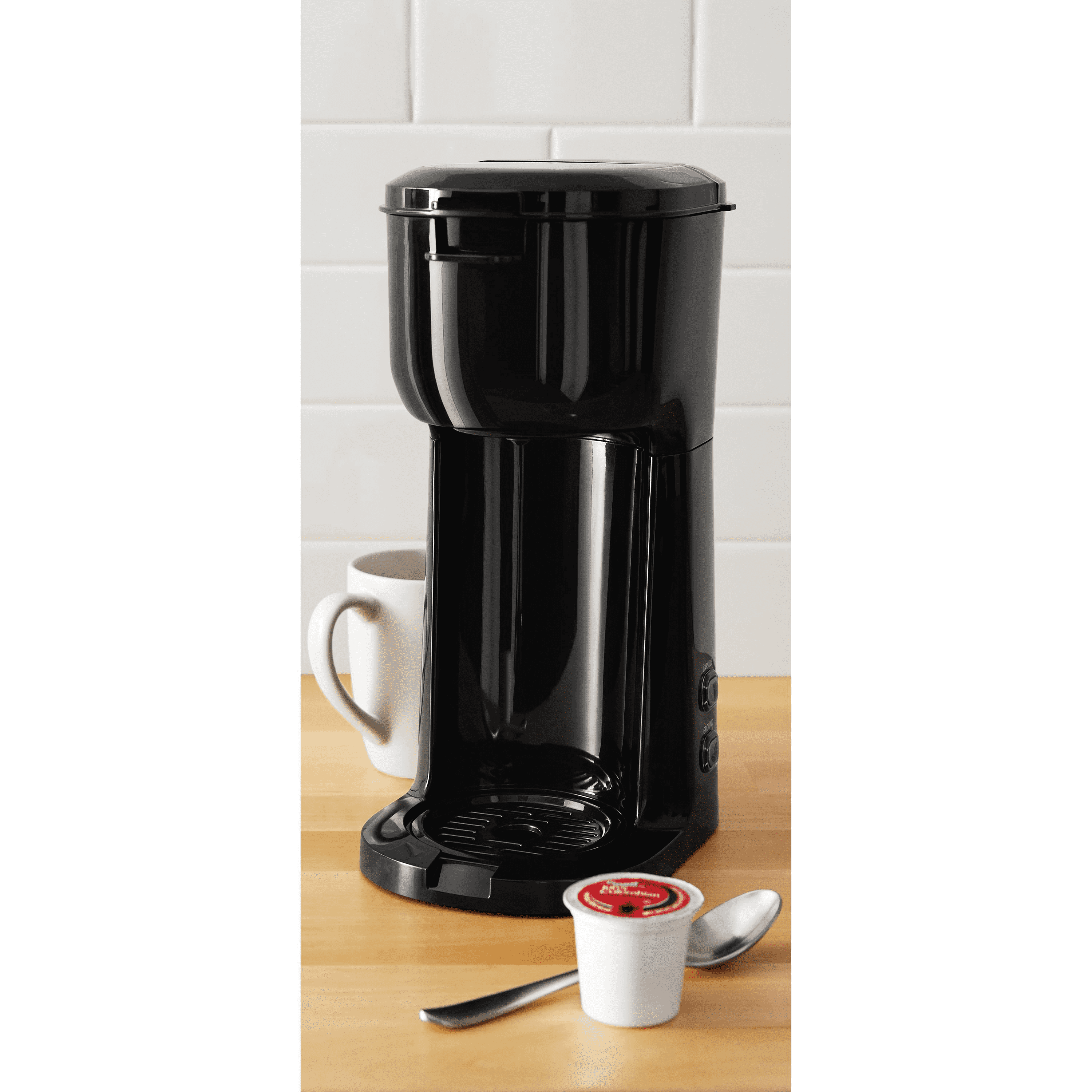Mainstays Single Serve KCup and Brew Black Coffee Maker
