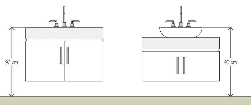 Bancadas dos banheiros