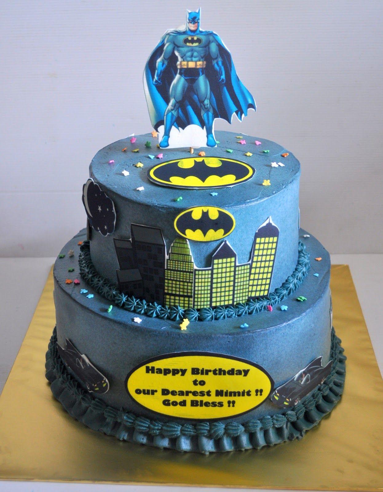 Batman cake tier Batman themed cakeFresh cream 3kg sponge cake