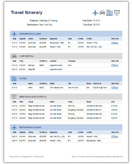 Get A Free Travel Itinerary Template To Manage Travels Here