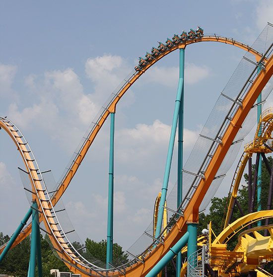 Goliath Six Flags Over Georgia Atlanta Georgia Six Flags Magic Mountain Los Angeles California Roller Coaster Riding Six Flags