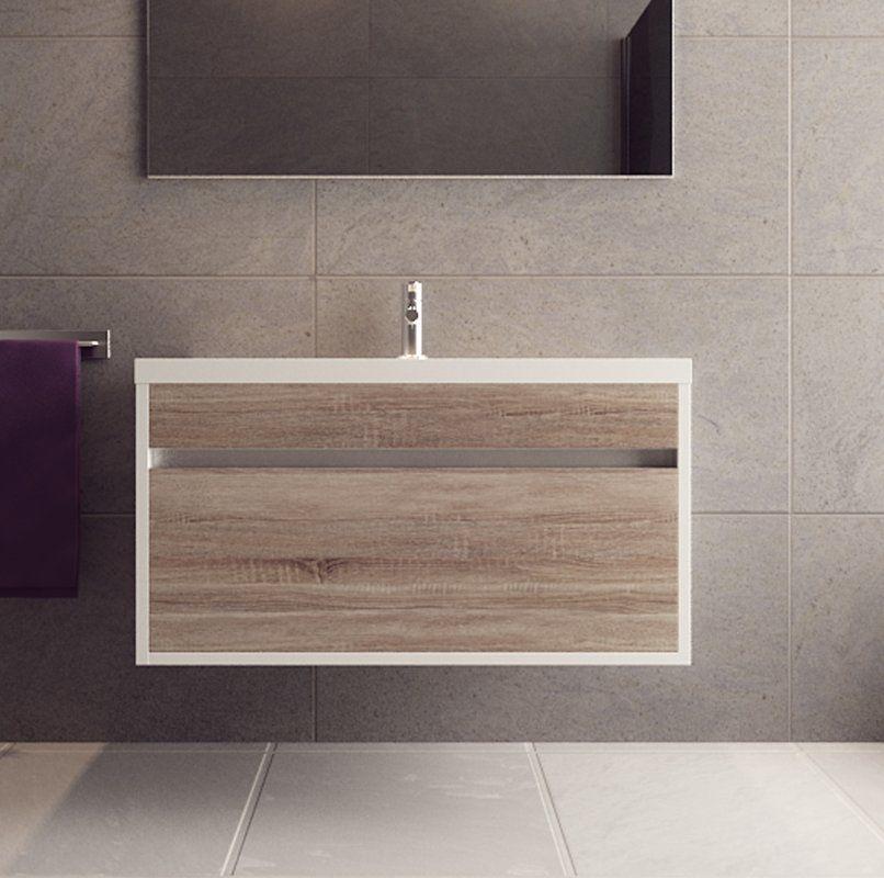 Margret 36 Wall Mounted Single Bathroom Vanity Set In 2020 Single Bathroom Vanity Vanity Set Wall Mounted Vanity