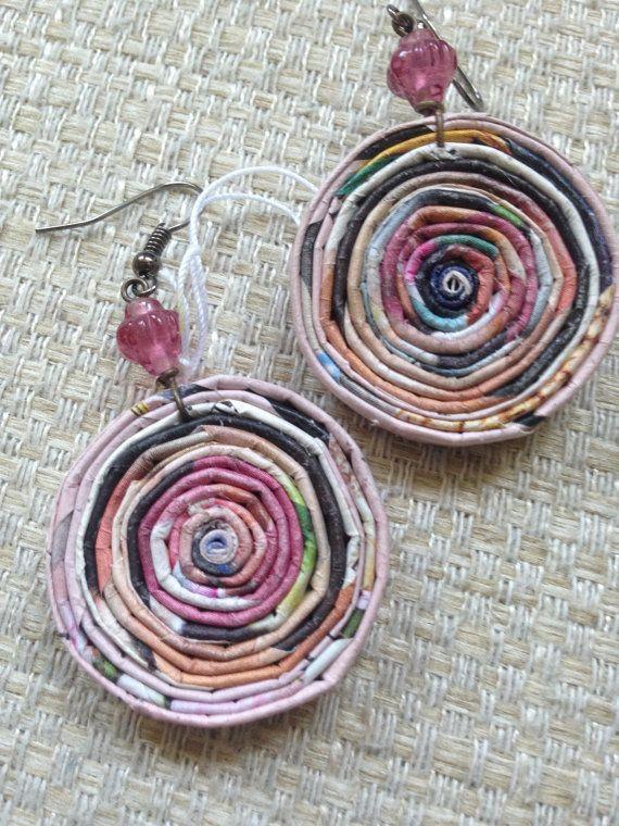 n. 22 che rosa tondo a spirale riciclato carta trafitto di Artesa