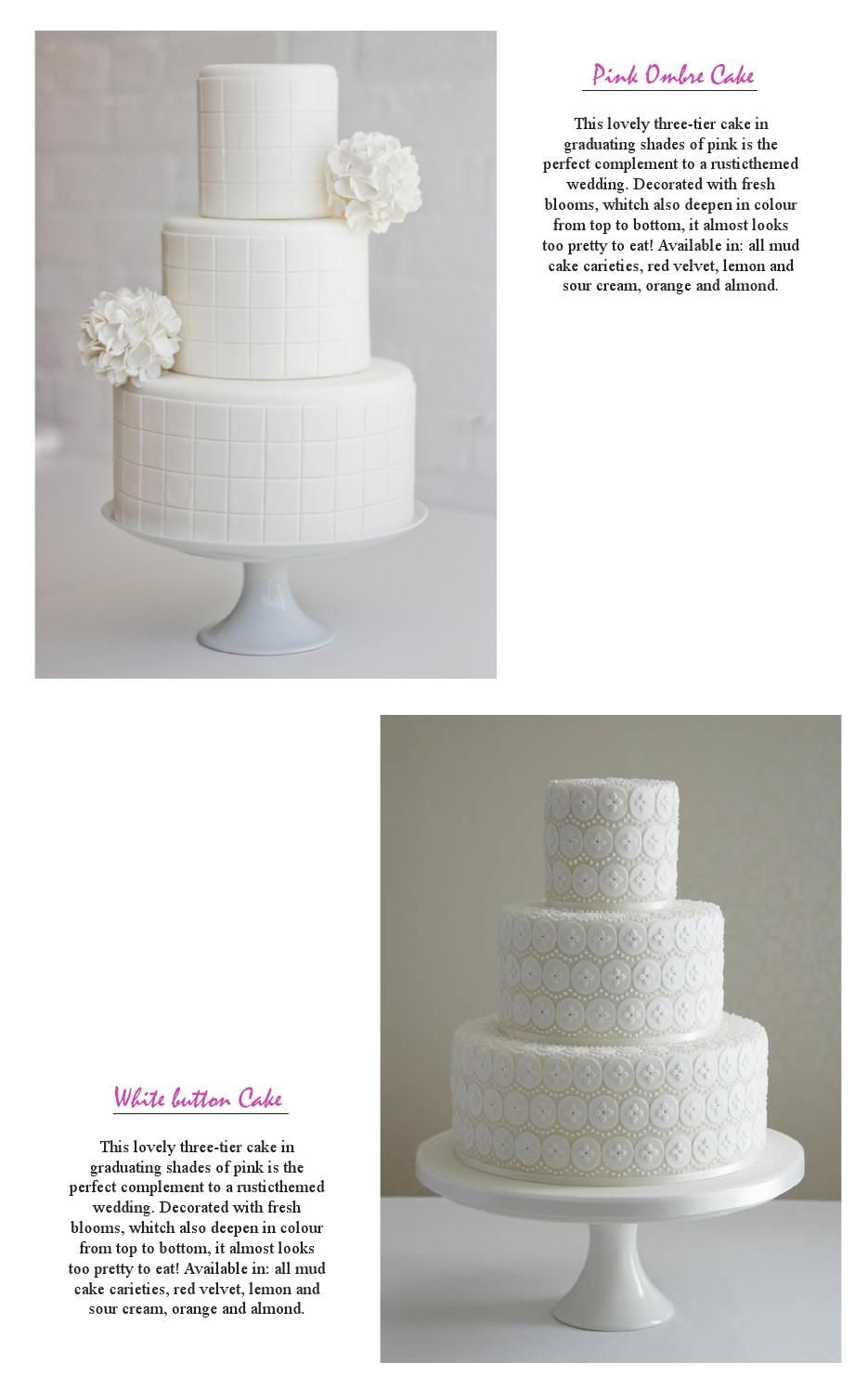 Patty's Cakes makes the most elegant cakes we see out there