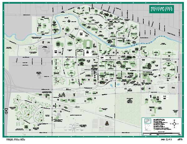 Michigan State University Map | Michigan state university ...