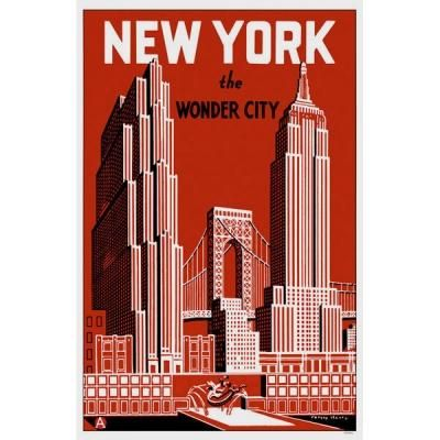 New York City Vintage Poster With Images New York York York City