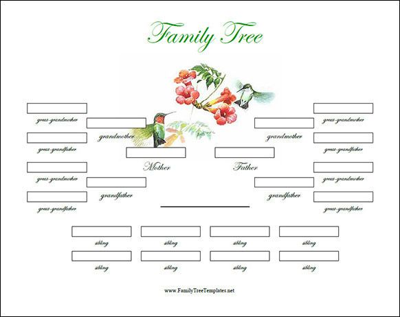Family Tree Template With Siblings Genealogy Pinterest Free