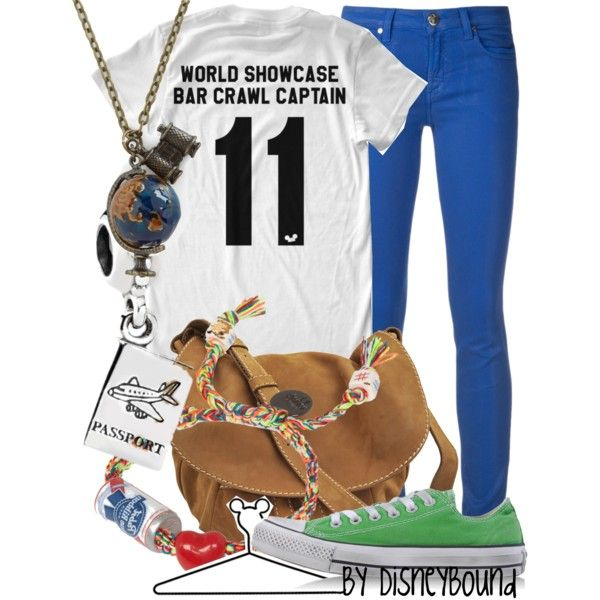 """World Showcase Bar Crawl Captain"" by leslieakay on Polyvore"