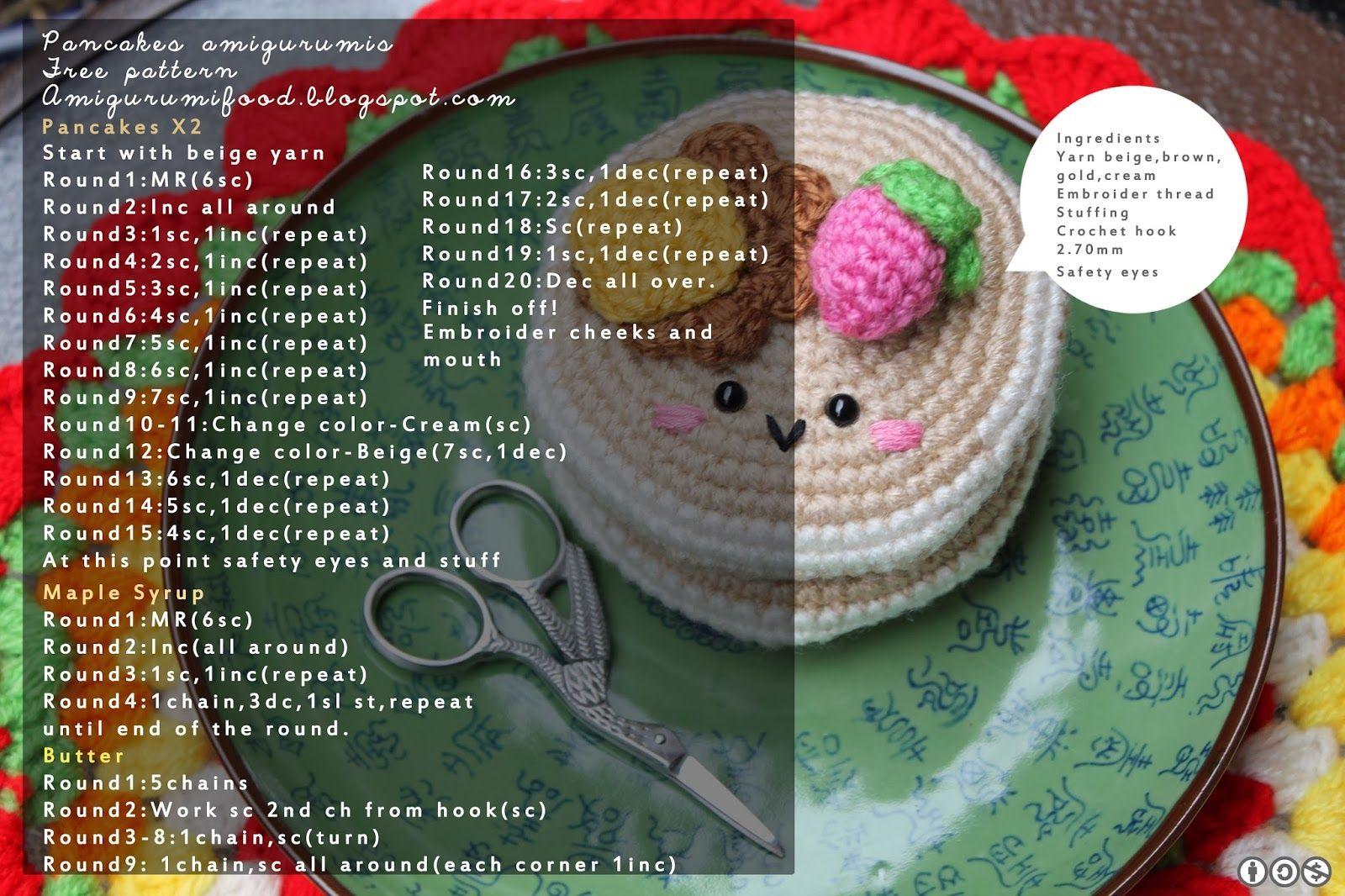 Amigurumi Food: Pancakes Amigurumi Free pattern | crochet ...