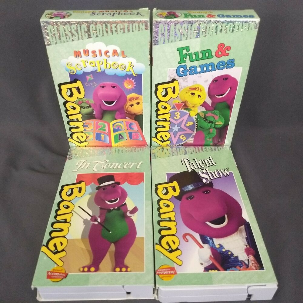 Barney Classic Collection Lot 6 Vhs Concert Talent Show Fun And