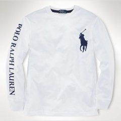 7e39cada7db2c Ralph Lauren 1039 Classic-Fit de manga larga camiseta de Blanco Replica  Handbags