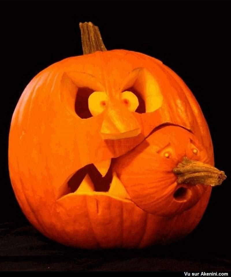 Scary Pumpkin Carving Patterns: Halloween - Citrouille - Pumpkin