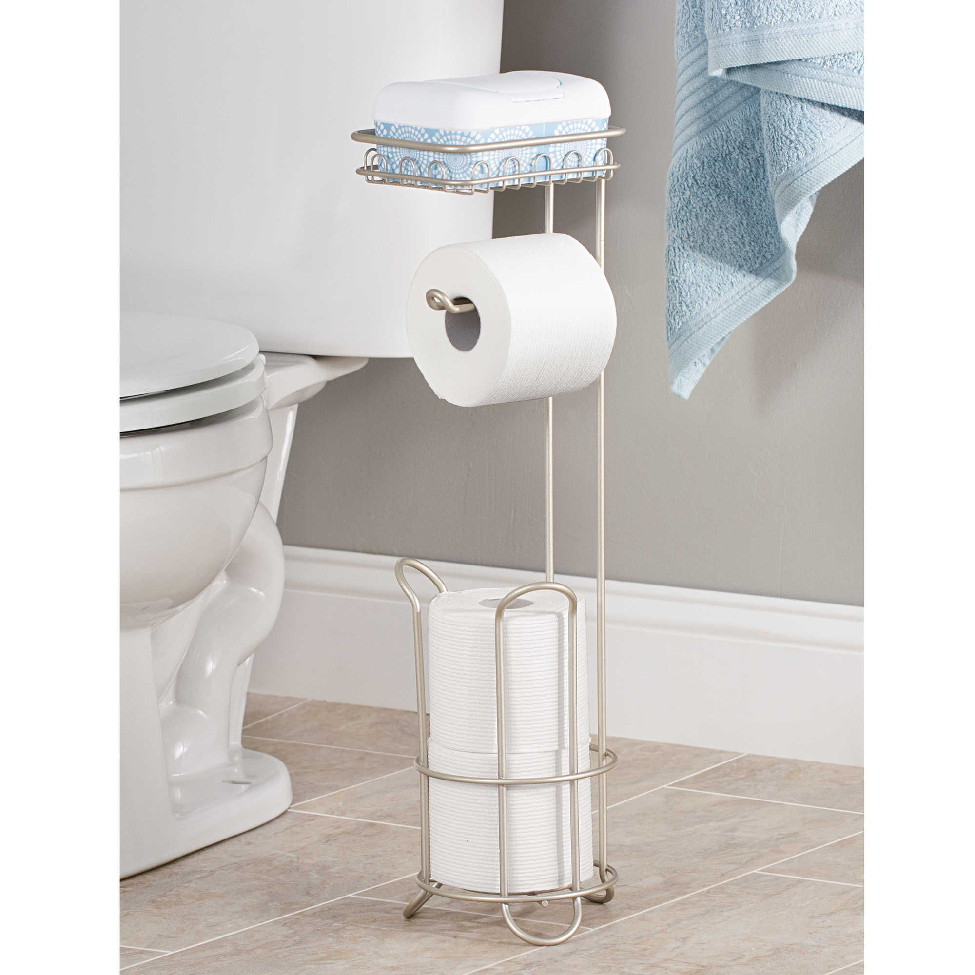 Space Saving Toilet Paper Holder I Love That This Has A Place For Your Wet Wipes Erin