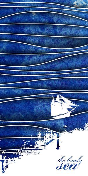The Lonely Sea Art Print - Tim Cox