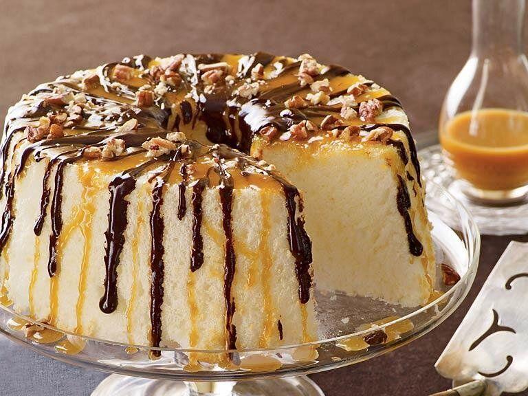 Chocolatecaramel angel food cake recipe in 2020 angel