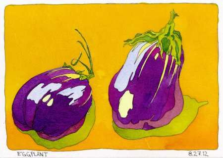 Two Eggplants Ink Watercolor Color Scheme Game Chris Carter Artist