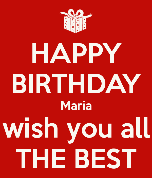 Happy Birthday Maria Wish You All The Best Poster Happy