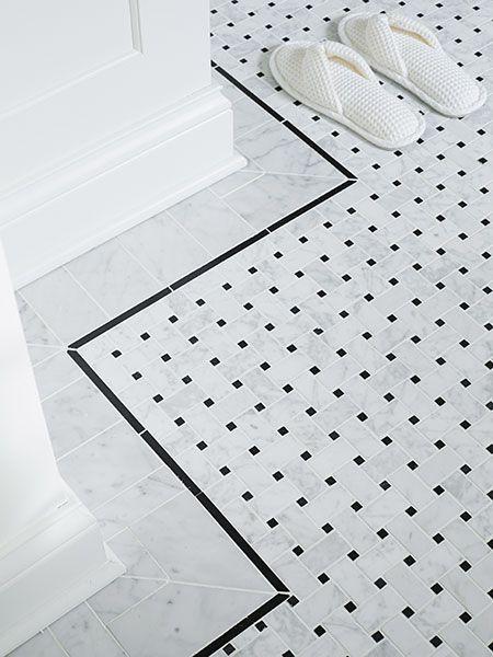 A Bath With Room To Move Marble Tile Floor Bathroom Floor Tiles Tile Floor