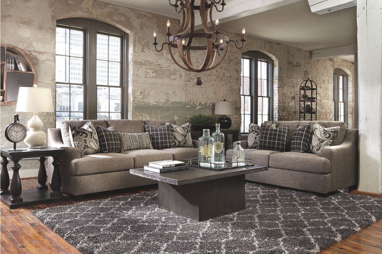 Gypsum sofa and loveseat charcoal products in pinterest