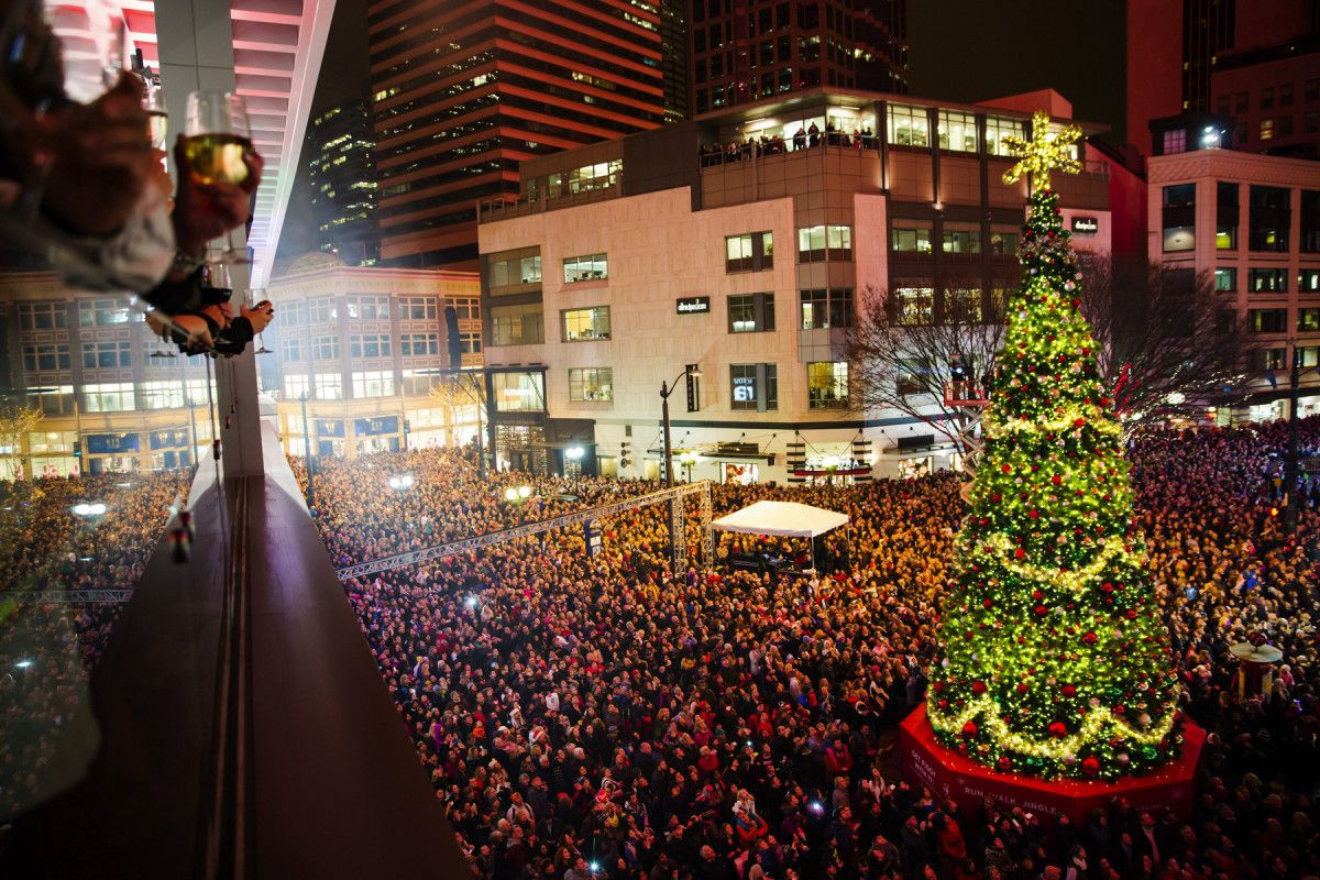 The Annual Westlake Christmas Tree Lighting Ceremony At Westlake Center, In  Seattle, On Friday