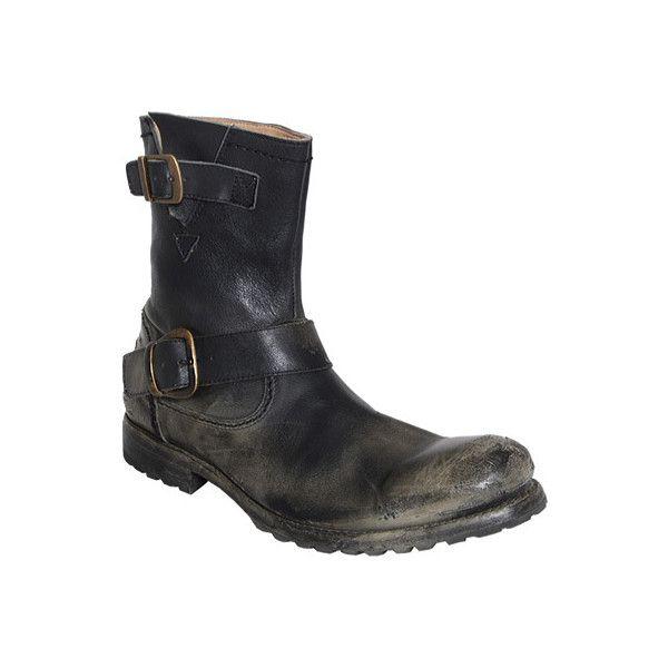 Men's Bed Stu Ashton - Black Glove Mason Leather Bargain Basement ($154) ❤ liked on Polyvore featuring men's fashion