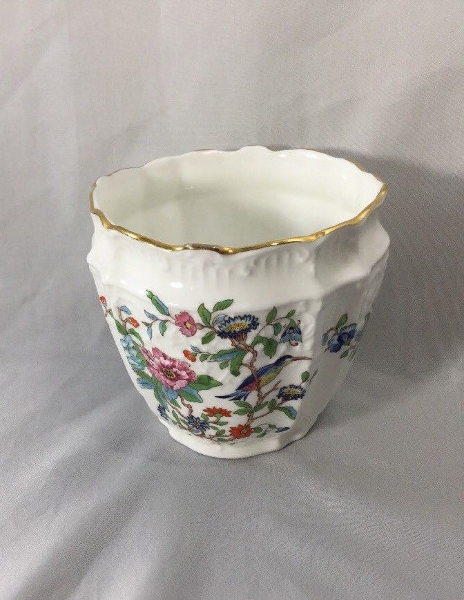 Aynsley Pembroke Gold Trim Cachepot Small Vase Small Bowl