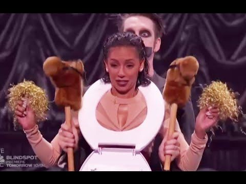 Tape Face: Creative Mime Puts a Toilet Seat on Mel B - America's Got Talent 2016 - YouTube