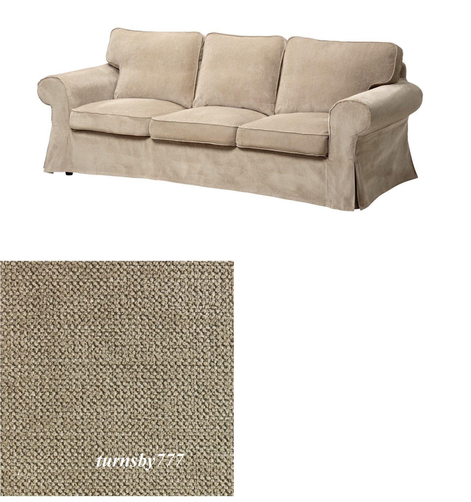 Slipcovers 175754: Ikea Ektorp Sofa Slipcover Vellinge Beige Three Seat  Sofa Cover  U003e BUY