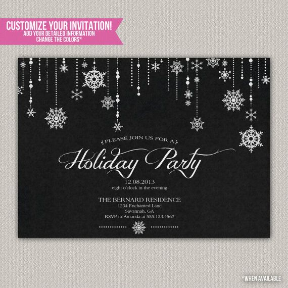 Winter Wonderland Holiday Party - Christmas Party Invitation - DIY Printable Invitation on Etsy, $15.00