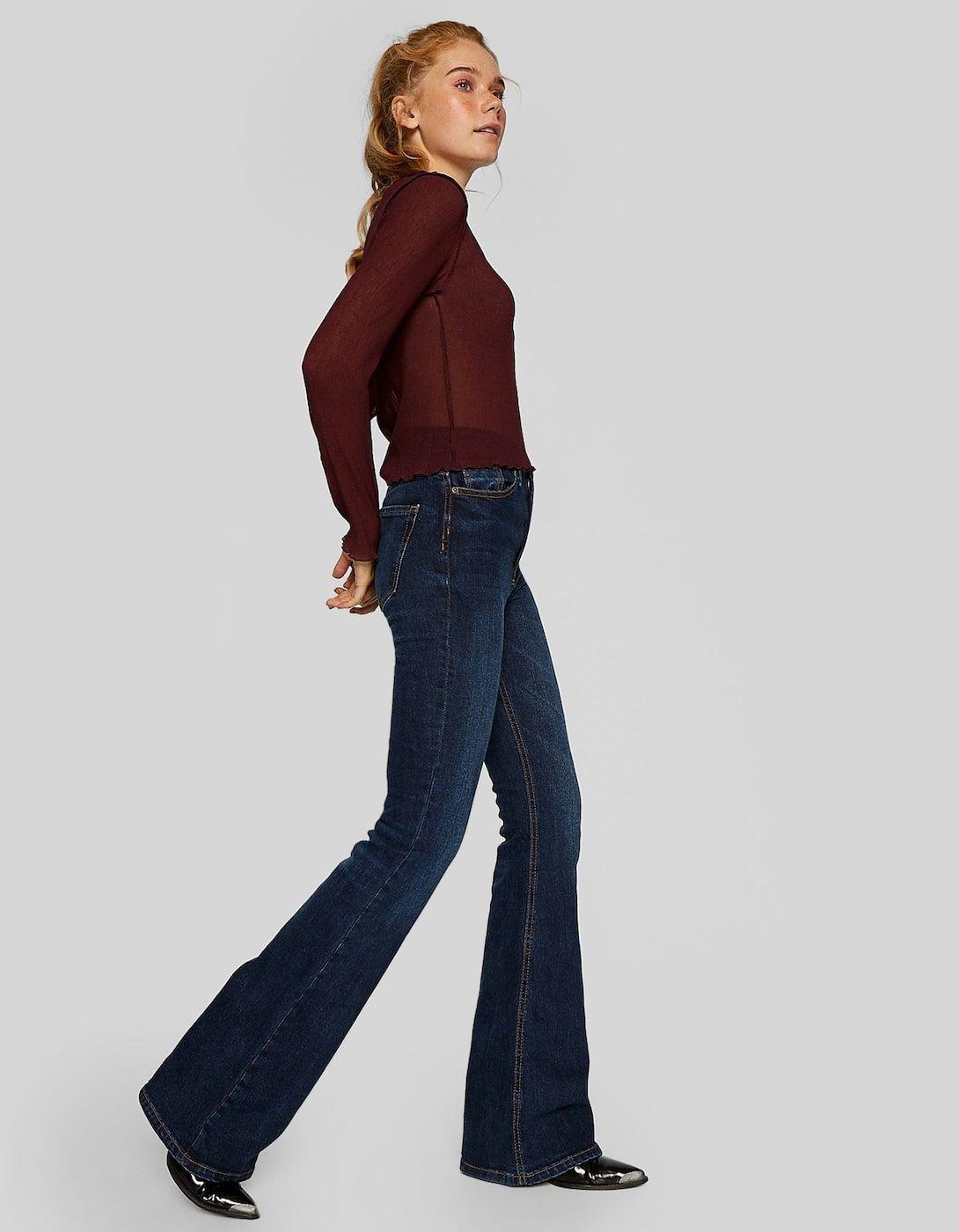 cercare godere di un prezzo economico vendita calda Pantaloni a campana in denim - Jeans  Stradivarius Italia ...