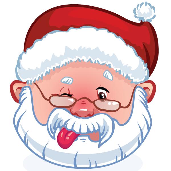 Winking Santa Santa Christmas School Christmas Spirit