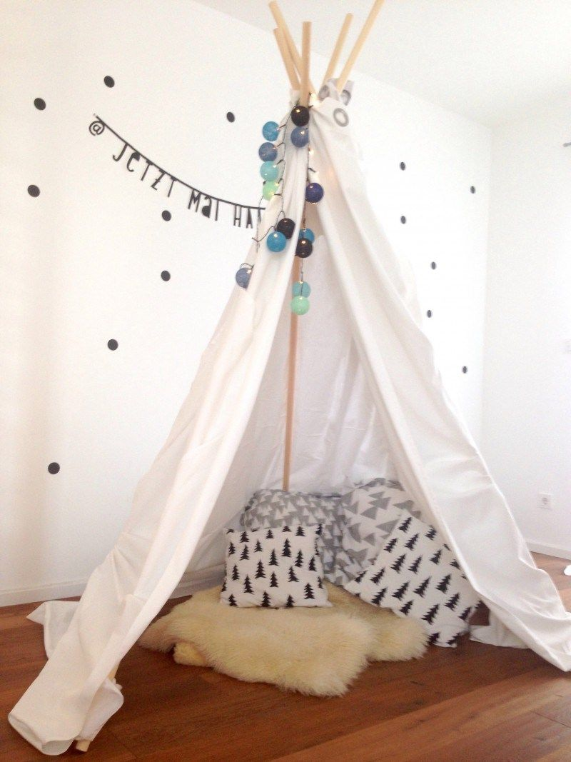 diy tipi diy pinterest kinderzimmer tipi kinderzimmer und tipi zelt. Black Bedroom Furniture Sets. Home Design Ideas