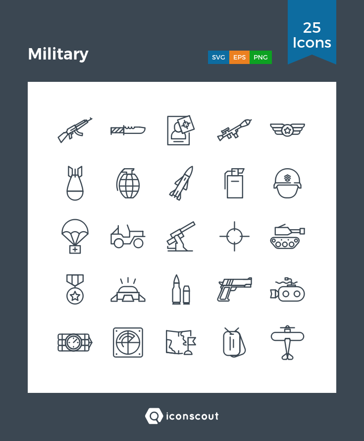 Download Military Icon Pack Available In Svg Png Eps Ai Icon Fonts Icon Pack Icon Easy Doodle Art